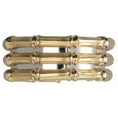 Cartier 18 Carat Bi-Color Gold Triple Bamboo Cuff Bracelet