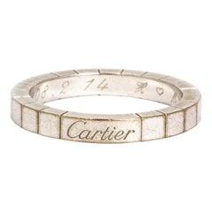 Cartier 18 Carat White Gold 'Lanieres' Band Ring