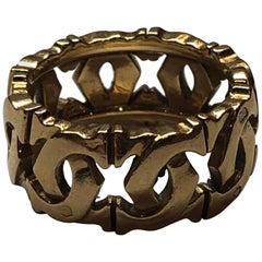 """Cartier 18 Carat Yellow Gold """"C de Cartier"""" Ring"""