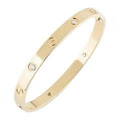 Cartier 18 Karat 4 Diamonds Yellow Gold Love Bracelet