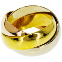 Cartier 18 Karat Gold 3-Row Trinity LM Large Ring