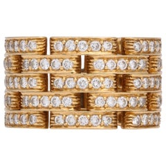 Cartier 18 Karat Gold and Diamond Panthere Ring