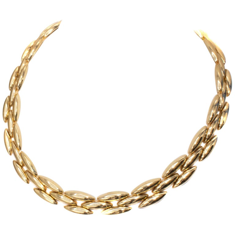 Cartier 18 Karat Gold Choker Necklace For Sale