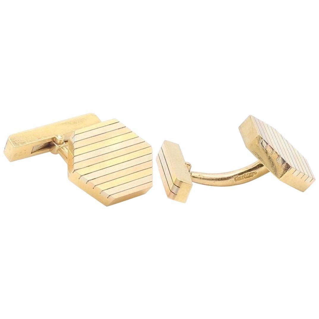 Cartier 18 Karat Gold Cufflinks