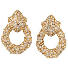 Cartier 18 Karat Gold Diamond Earrings
