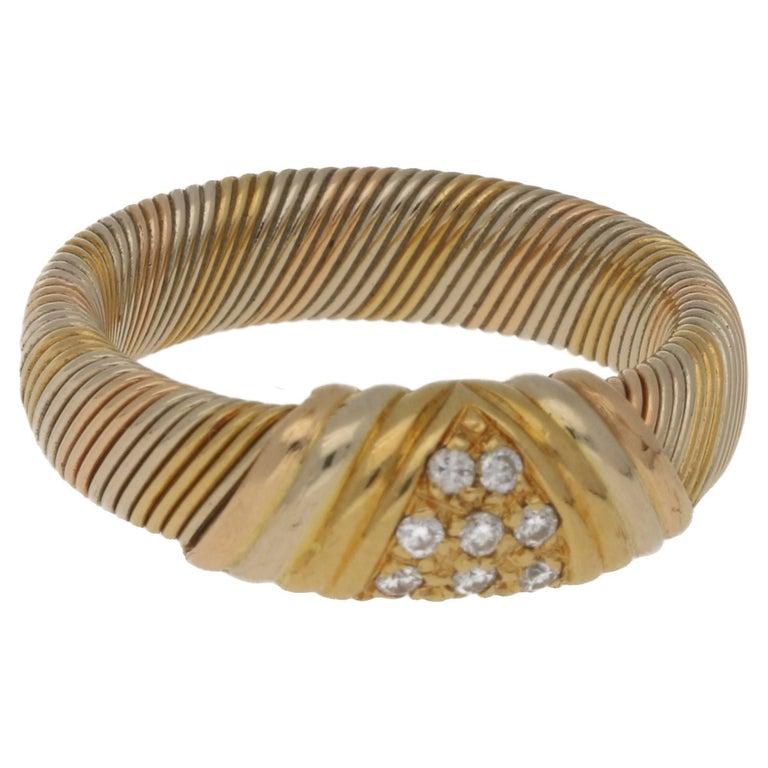 Cartier 18 Karat Gold Diamond Ring