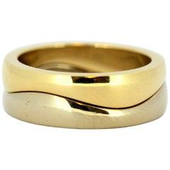 Cartier 18 Karat Gold Double Ring, Jacques Cartier, London, 1990s