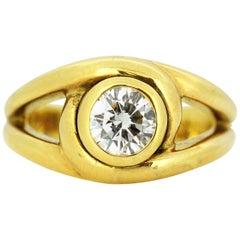Cartier 18 Karat Gold Ladies Ring with 0.58 Carat Diamond, Cartier, Paris