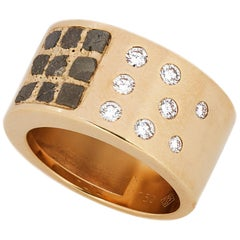 Cartier 18 Karat Gold Ladies Ring with Diamonds and Rough Diamonds, Paris, 1999