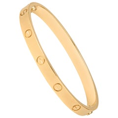 Cartier 18 Karat Gold Love Bracelet with Screwdriver and All Original Papers