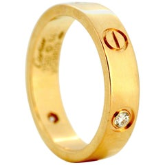 Cartier 18 Karat Gold Love Ring with Diamonds