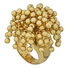 Cartier 18 Karat Gold Nouvelle Vague Dangling Beads Ring