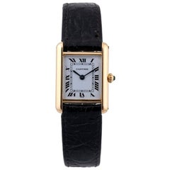 Cartier 18 Karat Gold Tank Louis Wristwatch