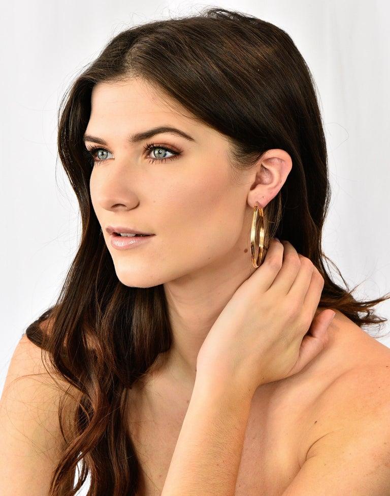Cartier 18 Karat Gold Tri-Gold Trinity Hoop Earrings For Sale 4