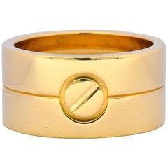 Cartier 18 Karat Gold Wide Love Unisex Band Ring