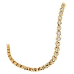 Cartier 18 Karat Pink Gold C de Cartier 1.44 Carat 52P Diamonds Bracelet
