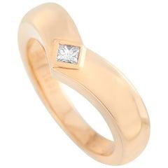 Cartier 18 Karat Rose Gold 0.10 Carat Diamond Ring