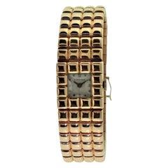 Cartier 18 Karat Rose Gold Art Deco Style Wristwatch by Movado, circa 1940s