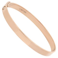 Cartier 18 Karat Rose Gold Diamond Anniversary Bracelet
