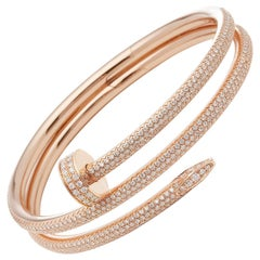 Cartier 18 Karat Rose Gold Juste Un Clou Diamond Bracelet