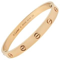 Cartier 18 Karat Rose Gold Love Bangle Bracelet