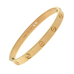 Cartier 18 Karat Rose Gold Love Bangle Bracelet