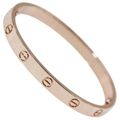 Cartier 18 Karat Rose Gold Love Bracelet