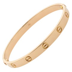 Cartier 18 Karat Rose Gold Love Bracelet Old Style