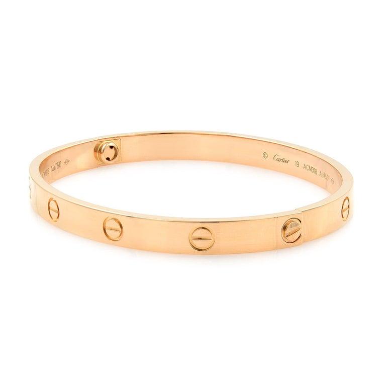 Modern Cartier 18 Karat Rose Gold Love Bracelet For Sale