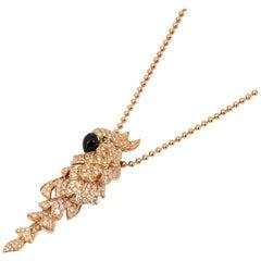 Cartier 18 Karat Rose Gold Mother Of Pearl Diamond Les Oiseaux Libérés Necklace