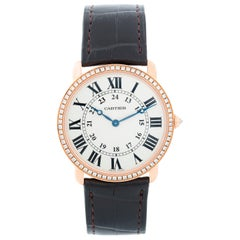 Cartier 18 Karat Rose Gold Ronde Louis Ladies Watch 2889