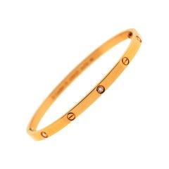 Cartier 18 Karat Rose Gold Small SM Love Bracelet