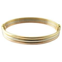 Cartier 18 Karat Tri-Color Gold Employee Anniversary Love Bracelet