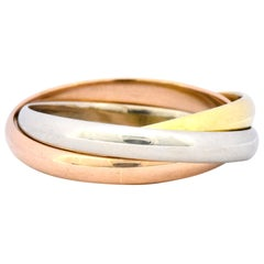 Cartier 18 Karat Tri-Colored Gold Unisex Trinity Band Ring