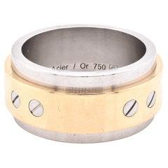 Cartier 18 Karat Two Tone Santos Ring