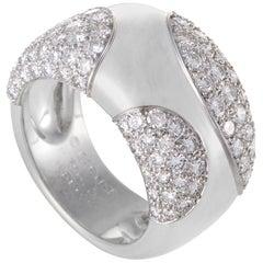 Cartier 18 Karat White Gold 3.25 Carat Diamond Pave Band Ring