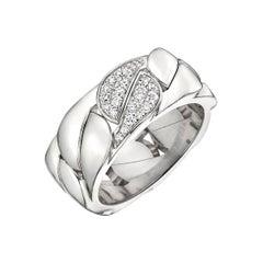 "Cartier 18 Karat White Gold and Diamond ""La Dona"" Band Ring"