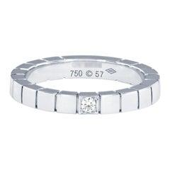 Cartier 18 Karat White Gold and Diamond Lanieres Ring