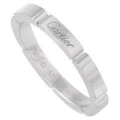 Cartier 18 Karat White Gold Band Ring