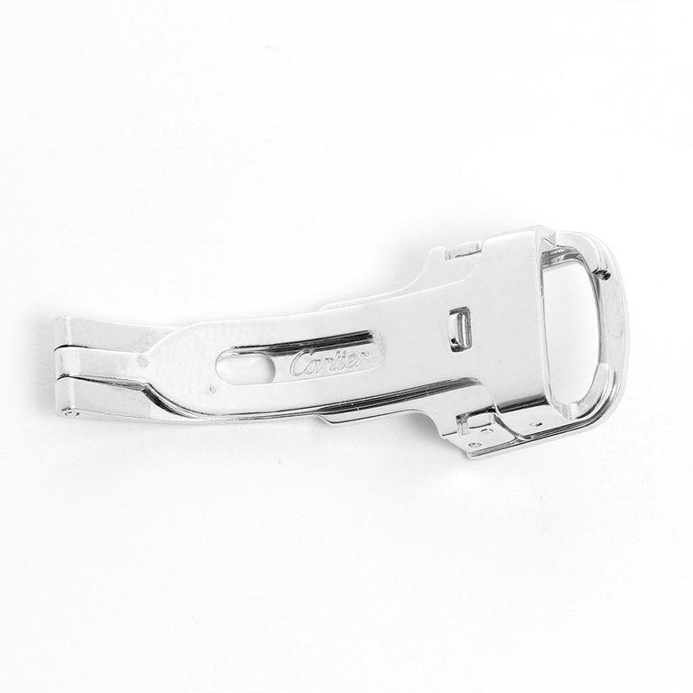 Cartier 18K White Gold Buckle (12 mm ) - Original Cartier 18K White gold buckle that will fir a 12 mm strap.