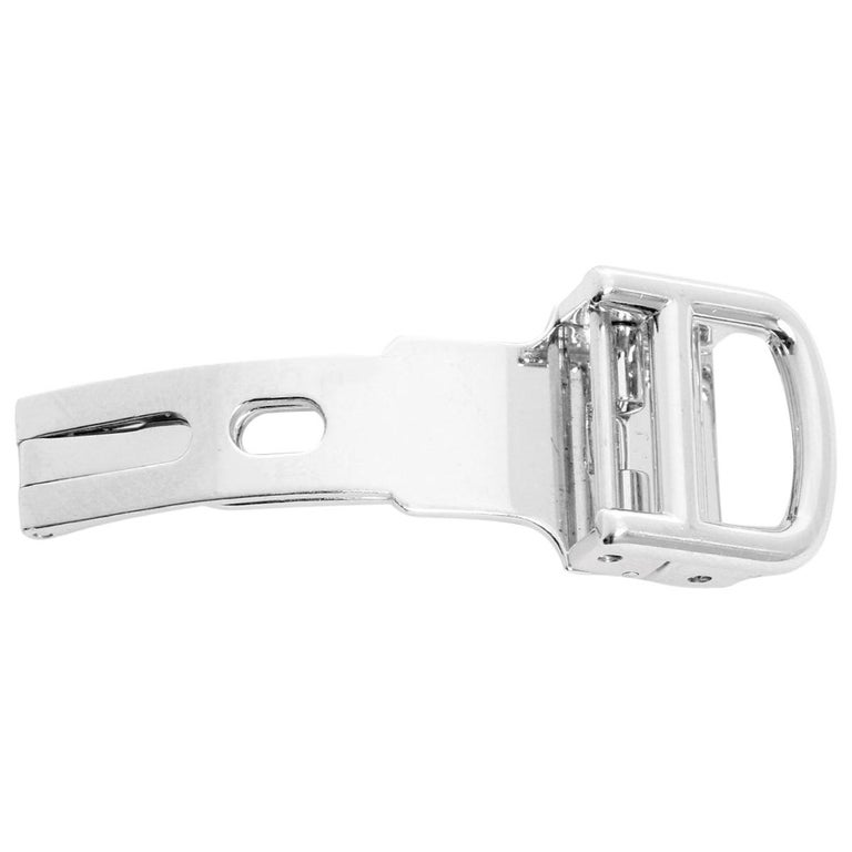 Cartier 18 Karat White Gold Buckle For Sale