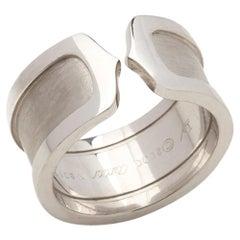 Cartier 18 Karat White Gold C De Cartier Band Ring