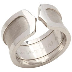 Cartier 18 Karat White Gold C De Cartier Band Ring