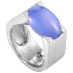 Cartier 18 Karat White Gold Chalcedony Ring