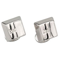 Cartier 18 Karat White Gold Computer Key Cufflinks