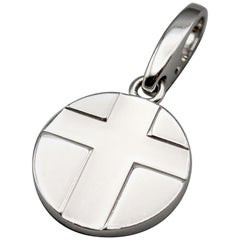 Cartier 18 Karat White Gold Cross Charm