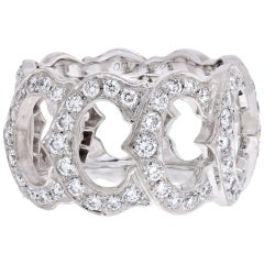Cartier 18 Karat White Gold De 'C' Diamond Ring