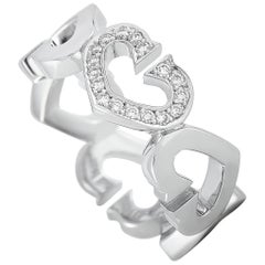Cartier 18 Karat White Gold Diamond Heart Ring