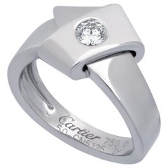 Cartier 18 Karat White Gold Diamond Wrap Ring