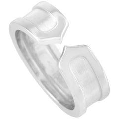 Cartier 18 Karat White Gold Double C Ring